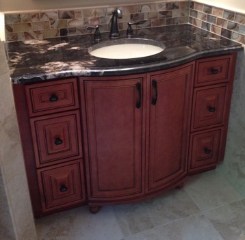 Cabinet Company Livonia MI - Kitchen and Bath, Kitchen Cabinets, Cabinet Shop - The Cabinet Shop - mocha_maple_bathroom_vanity